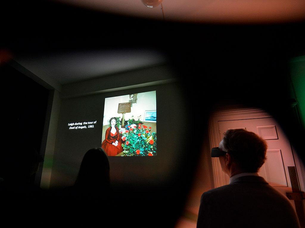 Photograph of Viven Leigh exhibition