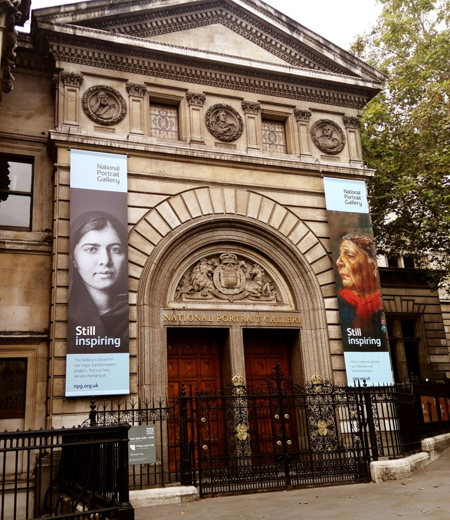 Photo of the front of the National Portrait Gallery