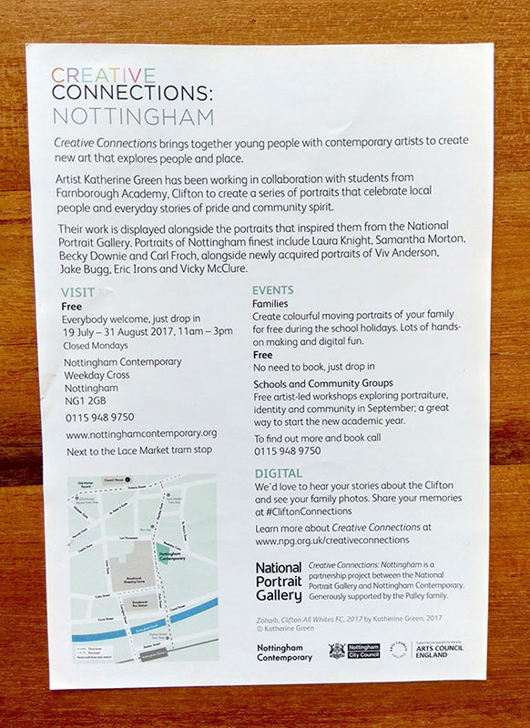 Photo of back of the leaflet